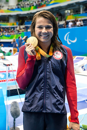 Becca Meyers takes her second gold medal in the Paralympic Games 2016.  This time in the 200 Meter IM.