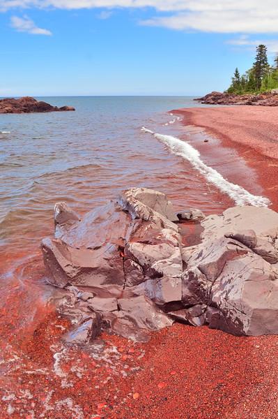 Tortured Beach Rock by Dennis Hake. Taken at Seven Mile Point
