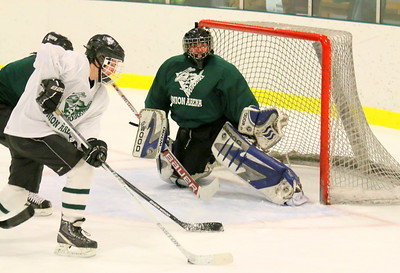 IMG_1316 green team goalie Matt albertazzi set to block shot by ian debevoise