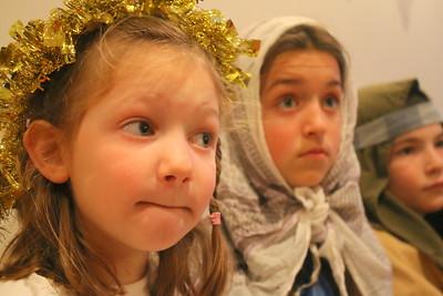 IMG_0161 zella little as an angel,,claudia shoemaker as Mary, finn liland as Joseph