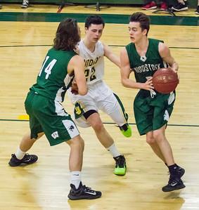 Jackson Wood sets a pick for Hunter McDonough