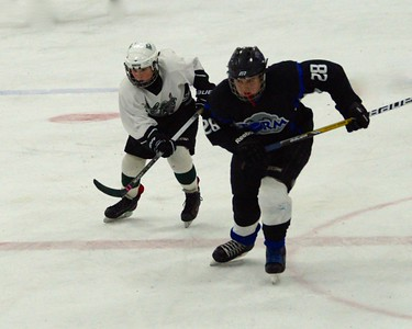 Peewee, Camden White hustling for the puck