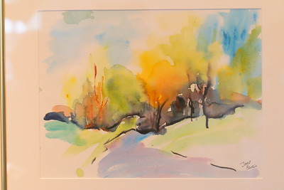 IMG_4033 Two Roads Diverged in a Yellow Wood, by jane curtis, watercolor