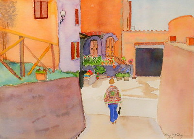 IMG_4024 Artist in Italy,,by patsy highberg,,watercolor