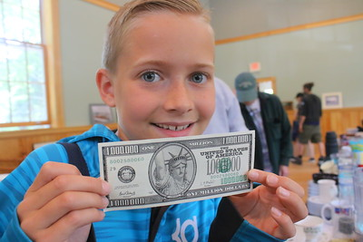 IMG_0034 avery hauck,10, with a million dollar bill that was for sale