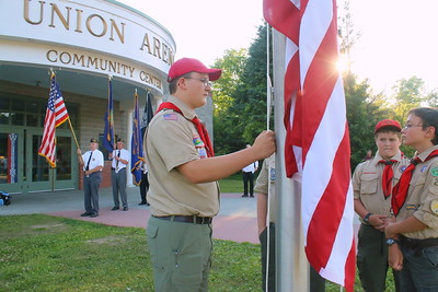 IMG_0997 jacob maxham at left, set to raise the flag,,Troop 220