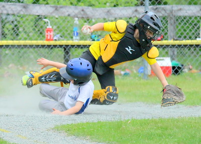 IMG_1201 catcher Josh Hough tags a runner out