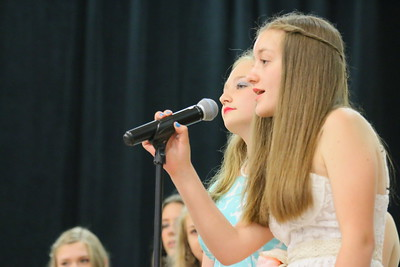 IMG_6021 samantha gibbs and mollie broder take a turn singing part of the class song,,I  Will Remember You