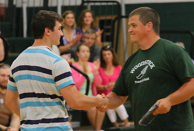IMG_2598 cole wescott gets the We Are Dedicated award from track coach greg somerville