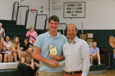 IMG_2594 gordon MacMaster gets the We Are Selfless award from coach brandon  little