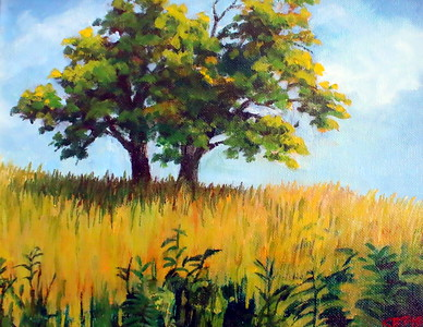 IMG_2133 Twin Trees,,by kathleen Fiske,,oil paint