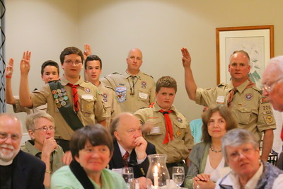 IMG_9695 members of Troop 220 recite scout oath