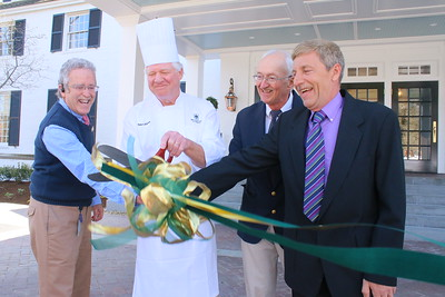 IMG_6901 ribbon cutting, with longest time serving emplyoyees, bill flower, peter wynia, don wheeler and bill stetson