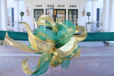 IMG_6814 ribbon at front door prior to ribbon cutting