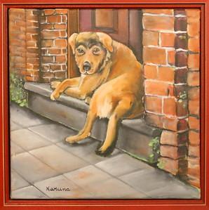 IMG_5689 Stoop Dog,, by Karuna Kresge-McLaughlin