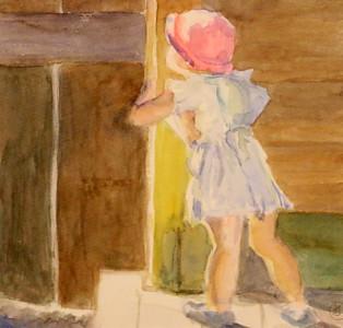 IMG_5697 The Barn Door,,,by Jennifer Dembinski,,,,watercolor