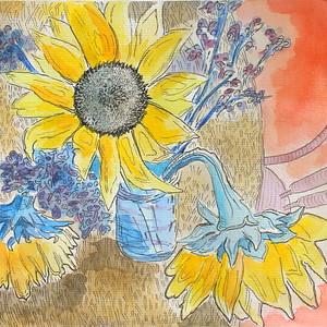 IMG_2004 CTWK art for sale,,,Sunflowers by Spruce Bohen