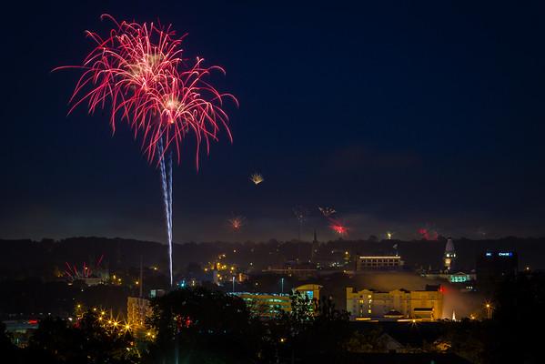 Fireworks over Lafayette