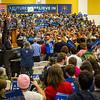 Bernie Sanders speaks at Purdue University in West Lafayette, Indiana on April 27, 2106