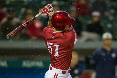 Logan Sowers bats during the Indiana game against Notre Dame on April 26, 2016. The Irish defeated the Hoosiers 5-0 at Victory Field.