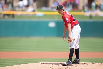 during the game on May 1, 2016 at Victory Field in Indianapolis, Indiana between the Indianapolis Indians and the Norfolk Tide. The Indians won 4-0. Dave Wegiel/MiLB.com