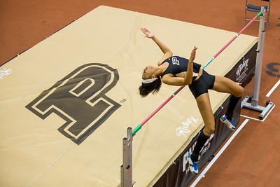 Janae' Moffitt wins the high jump during the Gene Edmonds Cup held at Purdue University