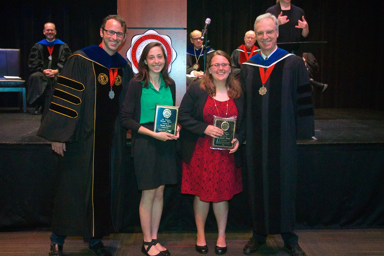 The J.O. TERRELL HISTORY AWARD – Is awarded to an outstanding student of history. It was established in 1974 to honor the late Dr. J.O. Terrell, former Dean of Instruction and Professor of History at Gardner-Webb. The recipients of this award are Elisabeth Avery Moore and Sarah Grace Marie Lynch.