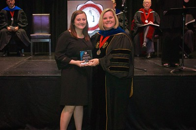 THE ELEMENTARY EDUCATION STUDENT TEACHING AWARD – DEGREE COMPLETION PROGRAM This award is given to a graduate from the Degree Completion Program elementary education program. The winner of this award is Marah Elizabeth Alexander.