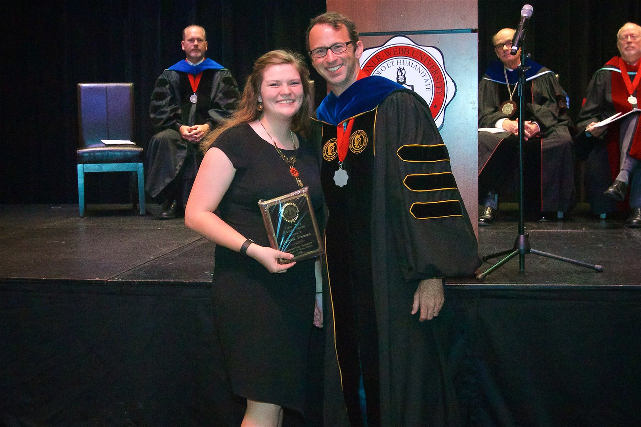 THE FIRST YEAR HISTORY AWARD - is presented to an outstanding freshman in the Western Civilization sequence.  The award this year is presented to Maryssa Elaine Freeman.