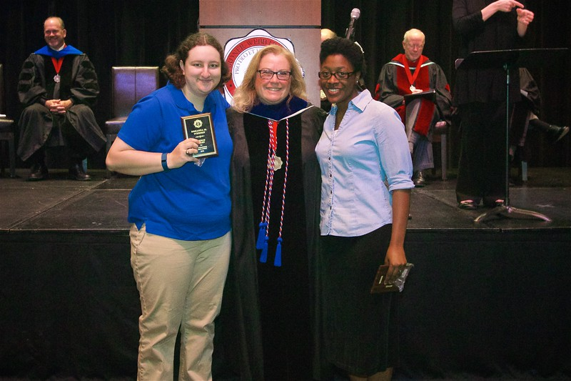 THE FRENCH AWARD -The French Award is given to a senior who has been outstanding in the field of French language and literature. The award winners are Breanna Marie Iversen and Eddrinia Shaleah Jordan.