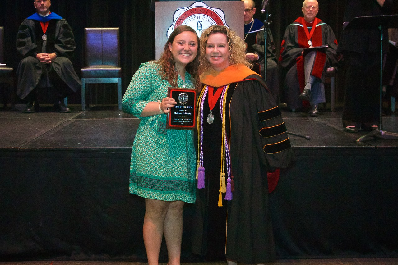 OUTSTANDING BSN AWARD - This award is given annually to the BSN student who, in the opinion of the faculty, has demonstrated scholastic achievement, excellence in the clinical area, leadership ability, and a positive attitude while in the program. The recipient of the award is Madison Ewing Haliloglu.