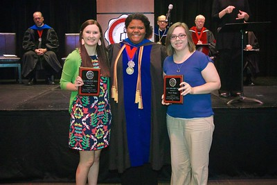 THE ADN NCLEX AWARD –  This Award is given to a graduating ADN student who earns the highest score on a national standardized test taken by ADN students in preparation for NCLEX. The students with the highest test score this year are Lindsay Kemp Clontz and Brook Lyn Bridges.