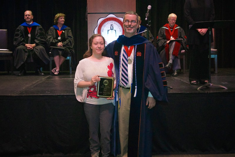 THE M. A. MOSELEY, JR.  SENIOR CHEMISTRY AWARD was established in 1980 in honor of Mr. M.A. Moseley, Jr., who taught chemistry at Gardner-Webb for 29 years.  A plaque is on display in Withrow Hall, and each year the name of the winner of this award is added.  The award goes to Nikole Vanessa Roland.