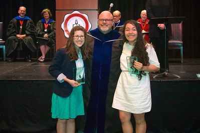 THE SENIOR ENGLISH MAJOR AWARD -  Is presented to a senior English major for excellence in grades, character, leadership ability, and creativity. This year the award is presented to Kathryn Elizabeth Hudson and Mariana Ignacia Mellado.