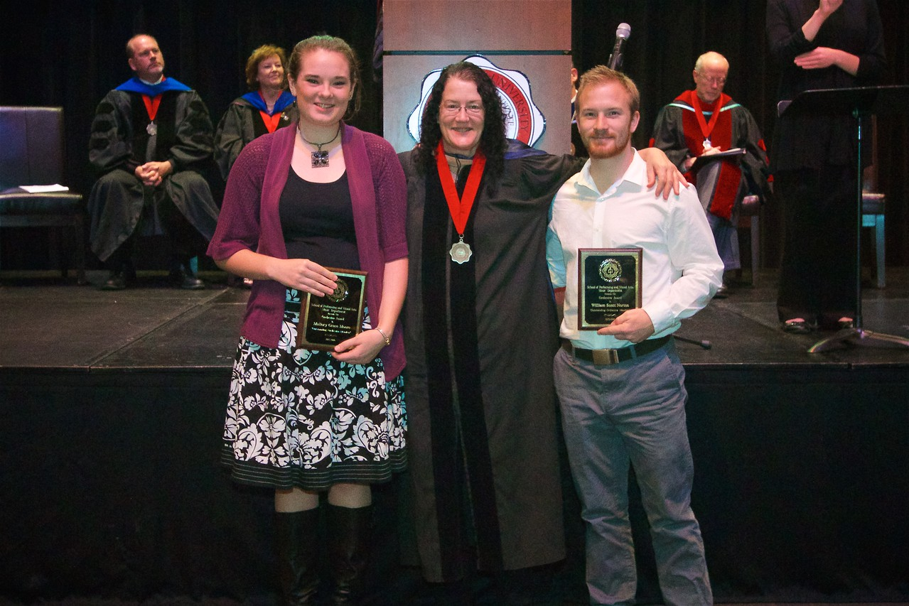 THE ORCHESTRA AWARD – Is given each year to the student who exemplifies excellence in preparation, devotion to the music and to the group entire, and in superb performance. The winners of this award are Mallory Grace Moore, William Scott Norton, and Keith Davis Westbrook.
