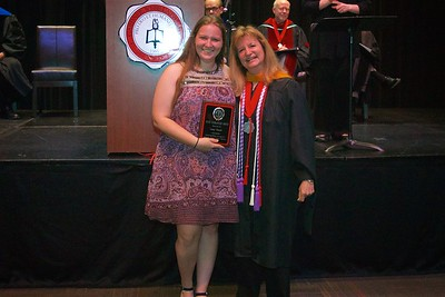 THE BSN NCLEX AWARD –  This Award is given to a graduating BSN student who earns the highest score on a national standardized test taken by BSN students in preparation for NCLEX. The student with the highest test score this year Lacy Nicole Frank.