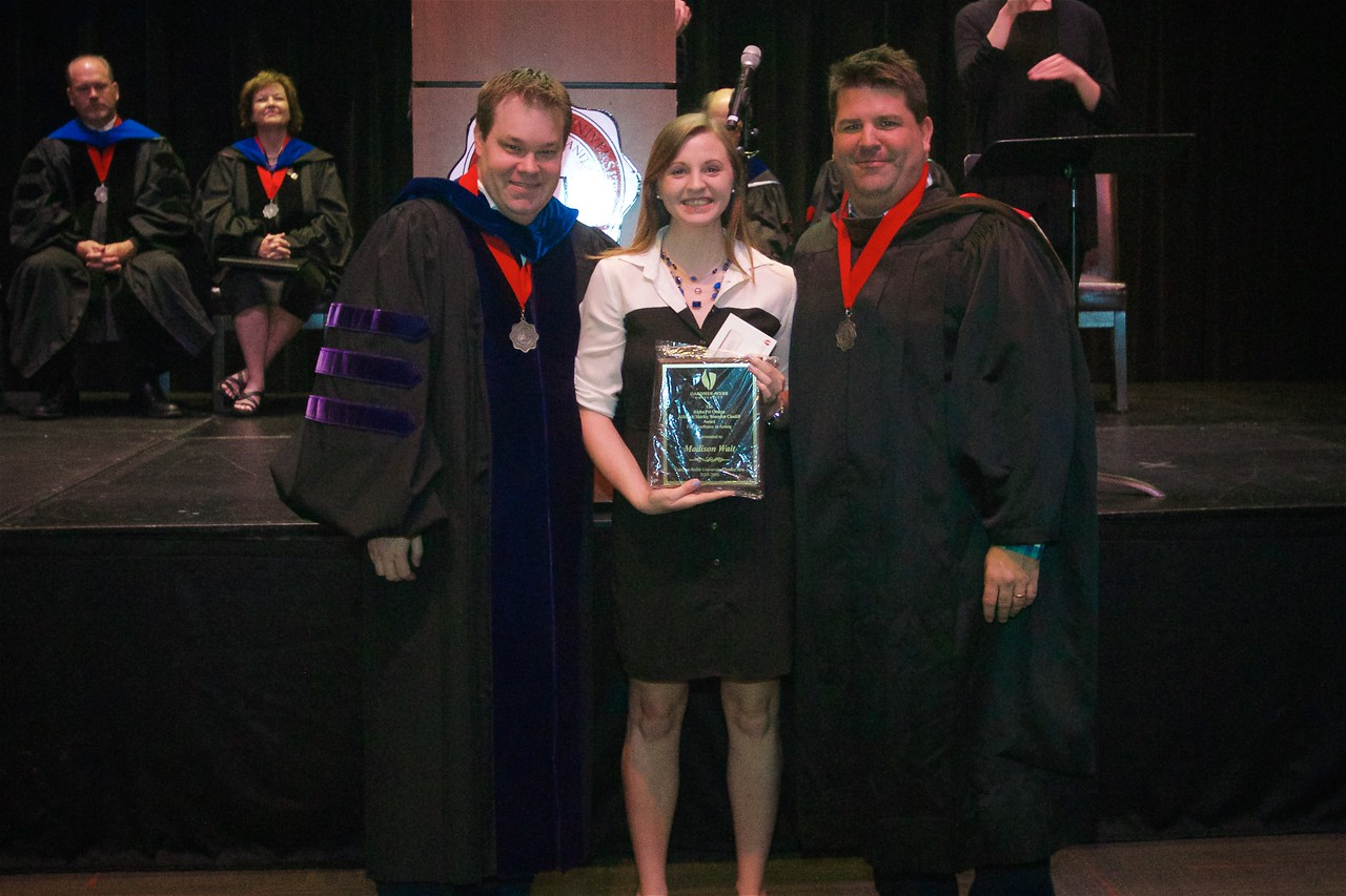 The ALFRED & SHIRLEY WAMPLER CAUDILL AWARD FOR EXCELLENCE IN ACTING recognizes excellence in stage performance by an actor in an academic year, including acting skill, professionalism, attitude, and work ethic. This award encourages students to develop their technique as well as their professionalism as a marketable stage performer. This award along with a cash prize is presented to Madison Ashley Wait.
