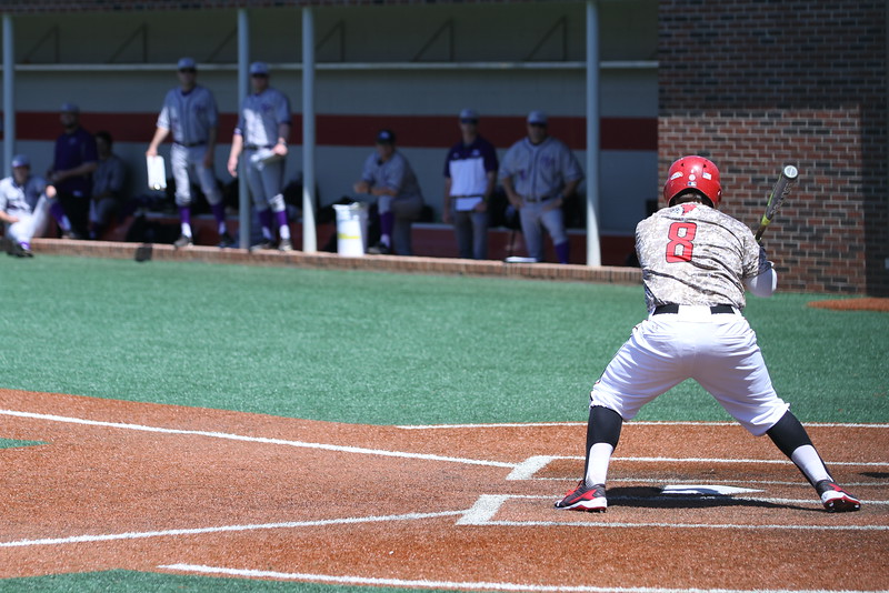 #8 Collin Thacker steps up to bat. Gardner-Webb Baseball took on High Point in the last of a three game series.