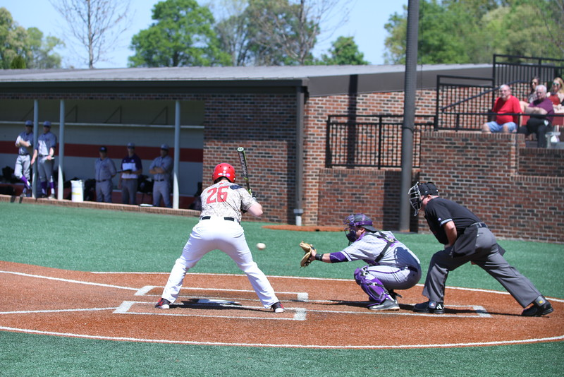 #26 Patrick Graham takes his turn at bat. Gardner-Webb Baseball took on High Point in the last of a three game series.
