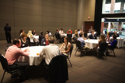 "Career Networking Event: students get the chance to practice their ""elevator speeches"" with local area business leaders and professionals, increasing student confidence and experience."