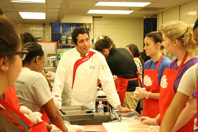 Chef Bob Katz led students through step by step directions on how to make their dishes.