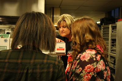 Students get a little extra help from Suzanne.