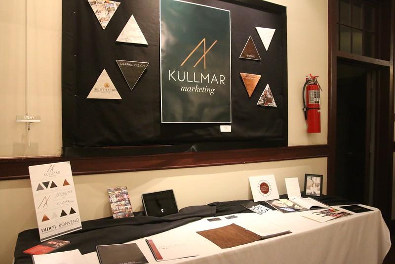 Anna Kullmar, GWU Student Body President and marketing major's, display.