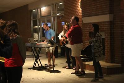 Students, Austin Beasly, Rachael Zimmerman, Jacob Kirby, and Sarah Branch, led worship.