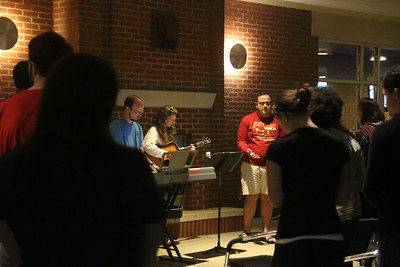 Students, Austin Beasly, Rachael Zimmerman, Jacob Kirby, and Sarah Branch, led worship.