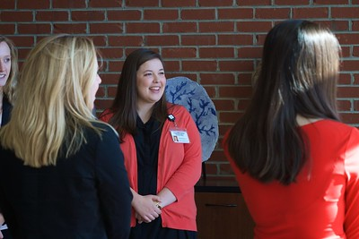 Nursing 50th Anniversary. Current nursing students greeted visitors from throughout the region as they entered Gardner-Webb University's Tucker Student Center.