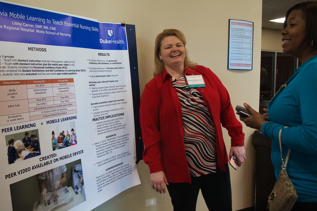Nursing students and professionals were given a chance to present their research projects and findings to regional nursing and healthcare employees and community members during the 50th Anniversary of the Nursing Program at Gardner-Webb University.