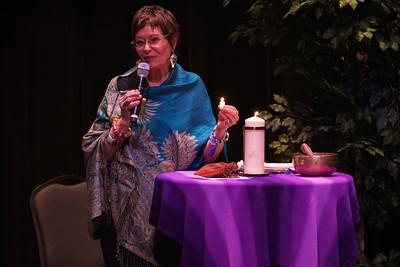 Nursing 50th Anniversary. Jean Watson passes a world-traveled candle flame and light to the Gardner-Webb University nursing program.