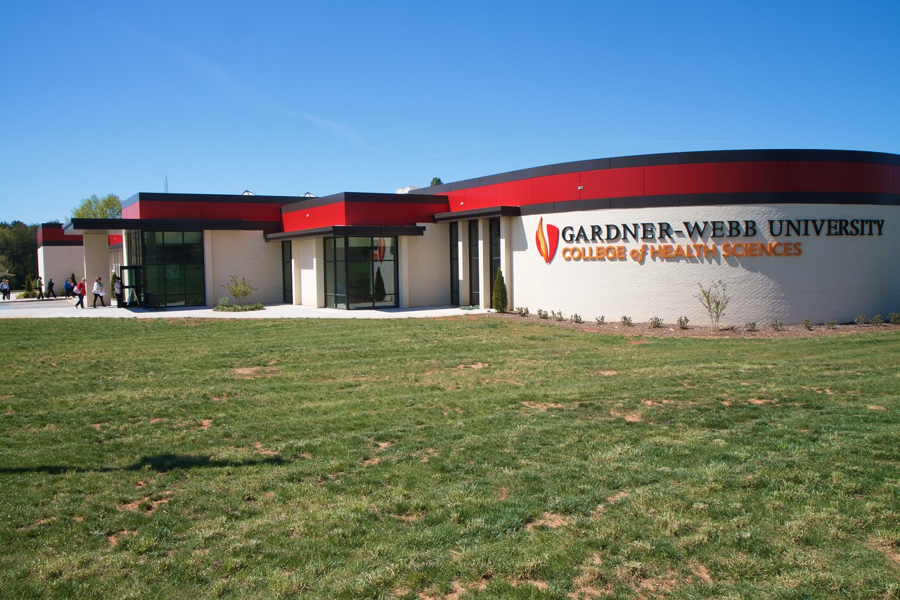 Nursing 50th Anniversary. Symposium attendees traveled to the new Gardner-Webb University College of Health Sciences building to explore research projects and posters created by students and professionals in the nursing field.