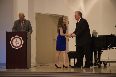 Passing of the Pi Kappa Lambda charter to initiate the Gardner-Webb Chapter of the national honors society for music, and induction ceremony. Cathryn Ujevich